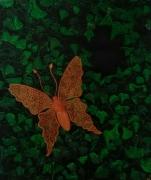 tableau animaux papillon dentelle lierre : Psyche