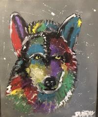 le loup en couleur