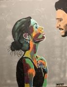 tableau personnages couple couple couleur jayfray : couple