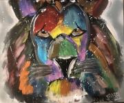tableau animaux lion couleur lion en couleur : lion en couleur
