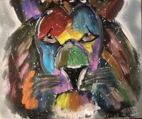 lion en couleur