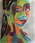 tableau personnages l etudiante femme couleur couleur jayfray : l étudiante