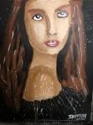 tableau personnages femme rousse femme femme soire jayfray : rousse de soirée