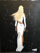 tableau personnages femme de dos blonde femme blonde jayfray : blonde de dos