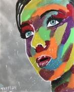 tableau personnages femme couleur jeune femme jayfray : jeune en couleur