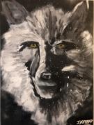 tableau animaux loup loup blanc toile de loup tableau de loup : le loup blanc