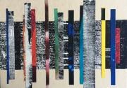 mixte abstrait vibrations abstrait bandes couleurs : Petites vibrations 3