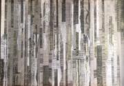 mixte abstrait collage abstrait gris grey : Palimpseste 2