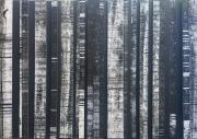 mixte abstrait relief collage noir blanc : Relief 2