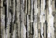 mixte abstrait noir collage abstrait : Palimpseste 3