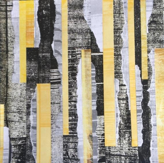MIXTE couleurs jaune yellow abstrait Abstrait  - Jaune