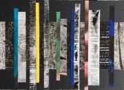 mixte abstrait vibrations abstrait bandes couleurs : Petites vibrations