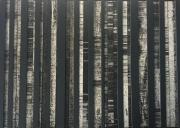 mixte abstrait relief collage noir blanc : Relief 1
