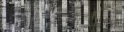 mixte abstrait collage abstrait noir black : Monochrome noir