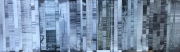 mixte abstrait collage abstrait gris grey : Monochrome gris
