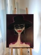 tableau personnages femme deuil tristesse : Reflet dans le miroir