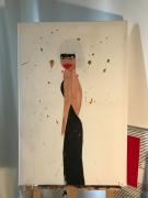 tableau personnages feminite portrait sensualite decadence : Miss E