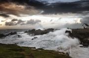 photo paysages tempete bretagne ocean couchant : Coup de vent sur l'Océan