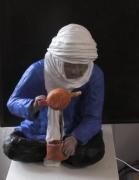 sculpture personnages bedouin touareg the : thé à la menthe