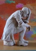 sculpture personnages penseur : réflexion