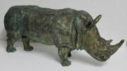 sculpture animaux rhinoceros afrique : rhinoceros