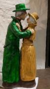 sculpture personnages couple : au revoir