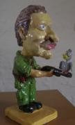 sculpture sculpture caricature chasseur humoristique : le chasseur
