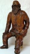 sculpture personnages pecheur marin bretagne : vieux pêcheur