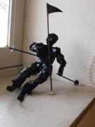 sculpture sport slaloom skieur alpin : SLALOOM