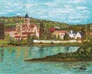 tableau paysages france eure vetheuil lavacourt : Vétheuil à Lavacourt (Val-d'Oise)