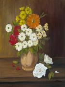 tableau fleurs fleurs bouquet : BOUQUET DE MARGUERITTES