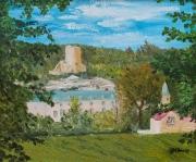 tableau architecture france valdoise donjon chateau : La Roche Guyon (Val-d'Oise)