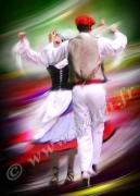 art numerique sport danseuse fandango folklore pays basque : Reproduction image d'art Creation  Ydan Affiche DANSE BASQU