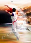 art numerique sport pelote main nue plazza berri pelotari : Reproduction image d'art Creation  Ydan Affiche PELOTE BASQ