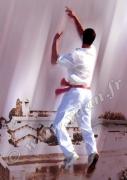 art numerique sport pelote basque main nue pelotaris saubusse : Reproduction image d'art Creation  Ydan Affiche MAIN NUE PE
