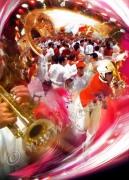 art numerique sport pelote paleta fiesta bayonne : Reproduction image d'art Creation  Ydan Affiche FERIA BASQU
