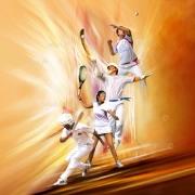 tableau sport sport basque pelote farandole : Farandole de pelote basque