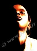 art numerique personnages visage ombre antillaise lumiere : IMAGE ART REPRODUCTION VISAGE OMBRE ET LUMIERE