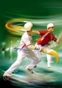 art numerique marine pelote cestapunta basque sport : Cesta Punta sport de pelote basque reproduction image d'art