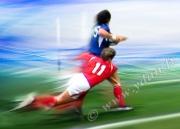 art numerique sport rugbyman placage gallois rugby : Tableau peinture Reproduction image d'art Creation  Ydan Af