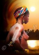art numerique nus mali nu niger profil : IMAGE ART REPRODUCTION AFRIQUE BUSTE NUDITE PROFIL MALIEN