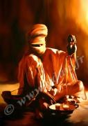 art numerique personnages maroc desert afrique touareg : Reproduction image d'art Creation  Ydan Affiche CEREMONIE D