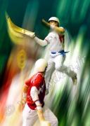 tableau sport cesta punta rai alai chistera pelotari : Tableau peinture PELOTE BASQUE CESTA PUNTA  2005 SAINT JEAN DE L