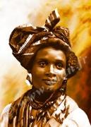 art numerique personnages visage femme antillaise coiffe : REPRODUCTION ART IMAGE ANTILLAISE VISAGE D'ANTAN