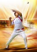 art numerique sport pelote main nue trinquet pelotari : Reproduction image d'art Creation  Ydan AffichePELOTE BASQU