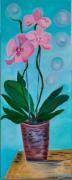 tableau fleurs orchidee bulle peinture huile : Orchidée Bulle
