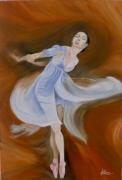 """tableau personnages danseuse scene de vie grace paris : """"La danseuse"""""""