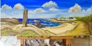 """tableau paysages batzsurmer plage saintmichel mer panorama : """"Plage Saint-michel"""""""