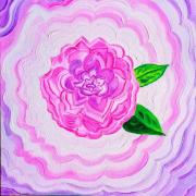 tableau fleurs camelia 3d : Camélia 3D