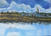"""tableau paysages saintguenole batzsurmer loire atlantique marais salants : """"Saint-guénolé"""", naturel"""